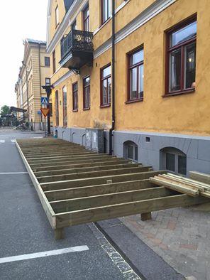 Uteservering på Borgmästargården i Kristianstad